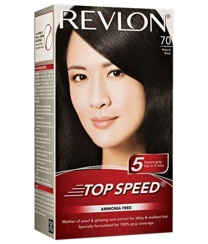 Revlon Natural Black 70 Top Speed Hair Color 95 ml - Fragume.com