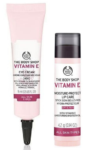 The Body Shop Vitamin E Eye Cream & Lip Care Stick Spf-15 Kit
