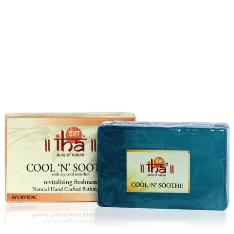 IHA Cool 'N' Soothe Natural Hand Crafted Bathing Bar (100gm) - Fragume.com