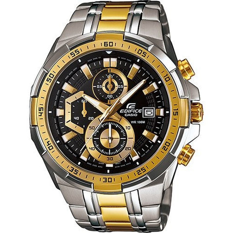 Casio Edifice Chronograph Multi-Colour Dial Men's Watch - EFR-539SG-1ASilver Gold - Fragume.com