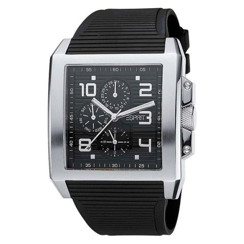 Esprit Herren Chrono TETRAGON BLACK Dial Watch - ES102331001 - Fragume.com
