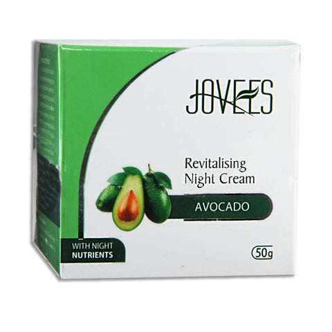 Jovees Revitalising Night Cream - Avocado (50g) - Fragume.com