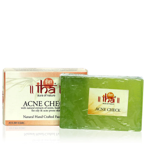 IHA Acne Check Natural Hand Crafted Facial Bar (100gm) - Fragume.com