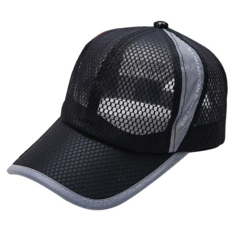 56-59CM Baseball Cap 2017 Fashion Summer Breathable Mesh Men Women Solid Hats Sons Snapback bones masculino