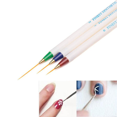 3 Colors Women 3PCS/set Nail Art Design Dotting Painting Drawing Brush Pen Tools Drop Shipping