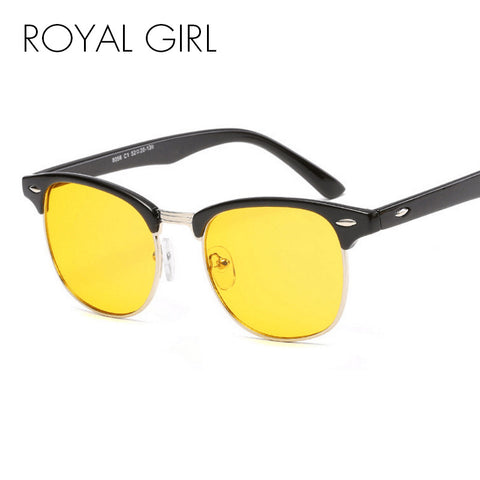ROYAL GIRL Fashion Men Women Night Vision Sunglasses Anti-blue Light Brand Designer Acetate Frame Sun Glasses oculos ss690