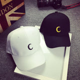 Hot Sale Embroidery Cotton Baseball Cap Moon Printing Boys Girls Snapback Hip Hop Flat Hat Adjustable Snapback Flat Exercise Hat