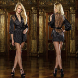 High Quality 2016 Europe and America Women Nightgown Sexy Lace Sleepwear V-Neck Female Embroidery Lingerie