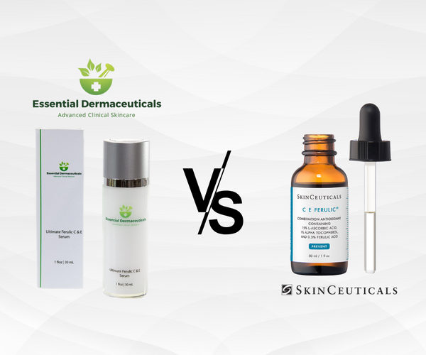 ferulic c and e serum essential dermaceuticals verses skinceuticals vitamin c and e serumanika skincare and makeup small batch natural and organic skincare routines