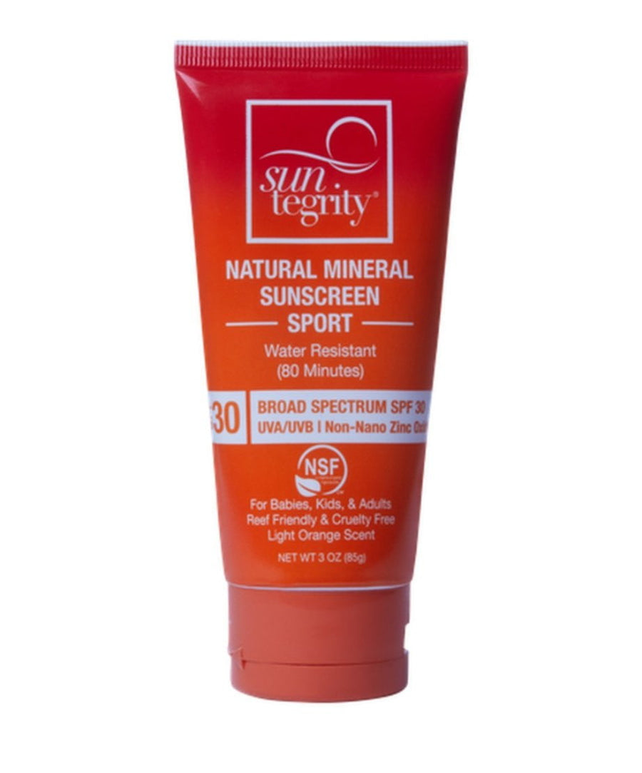 Facial Skincare Services - shop-anikabeauty-com - Suntegrity Sport Natural Mineral Sunscreen 3 oz. - Broad Spectrum SPF 30 Suntregrity Natural Non toxic Face, Body and Lip Suncare body