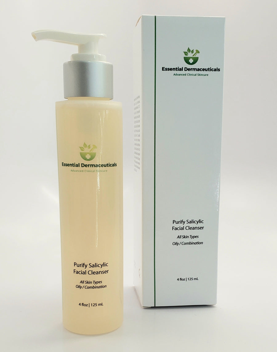 purify salicylic facial cleanser all skin types oily combination esnetial dermaceuticals anika skincare and makeup