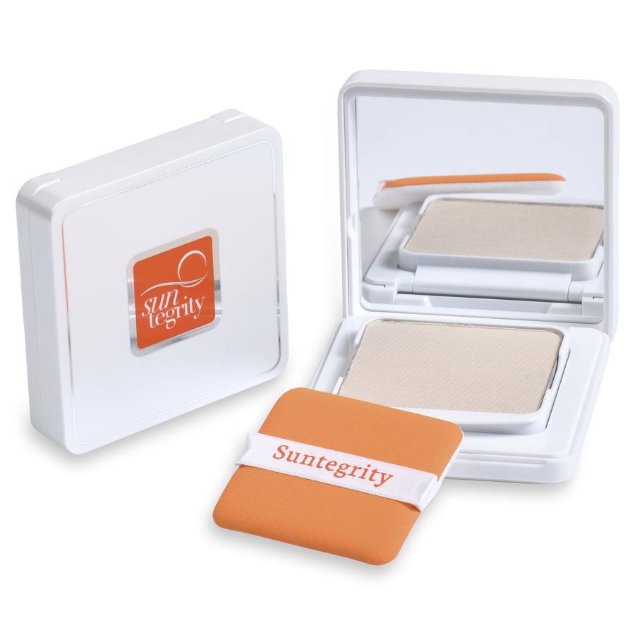 Facial Skincare Services - shop-anikabeauty-com - Suntegrity Pressed Mineral Powder Compact - Translucent, Broad Spectrum SPF 50 Suntregrity Natural Non toxic Face, Body and Lip Suncare face.