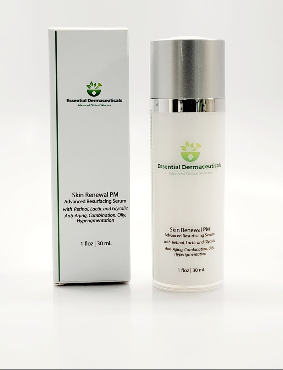 Facial Skincare Services - shop-anikabeauty-com - Skin Renewal PM Advanced Resurfacing Serum with Retinol, Lactic and Glycolic Essential Dermaceuticals Face.