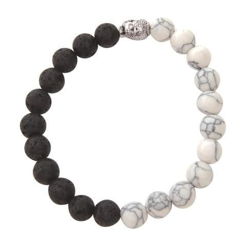 Facial Skincare Services - shop-anikabeauty-com - White Marbel & Lava Rock Bracelet serina and company Jewelry aromatherapy