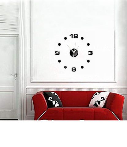 DIY Wall Clock 3D Sticker Home Office Decor 3D Wall Clock (Covering Area:40*40cm) - 0001B