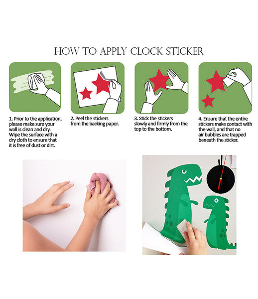 DIY Wall Clock 3D Sticker Home Office Decor 3D Wall Clock (Covering Area:34*52cm) - 0435S