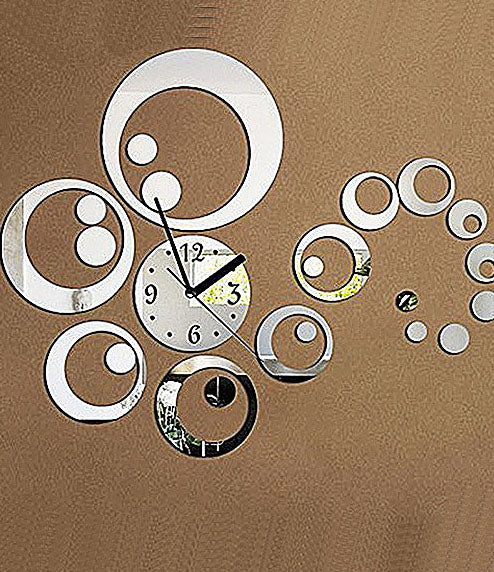 DIY Wall Clock 3D Sticker Home Office Decor 3D Wall Clock (Covering Area:45*56cm) - 0434S