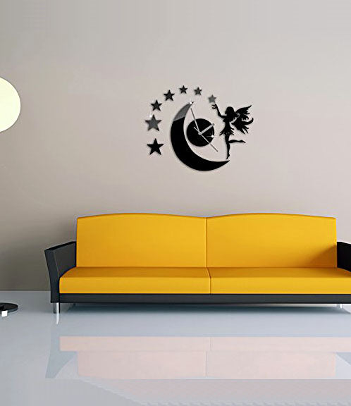 DIY Wall Clock 3D Sticker Home Office Decor 3D Wall Clock (Covering Area:42*33cm) - 0448B