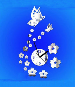 DIY Wall Clock 3D Sticker Home Office Decor 3D Wall Clock (Covering Area:44 * 62cm) - 0449S