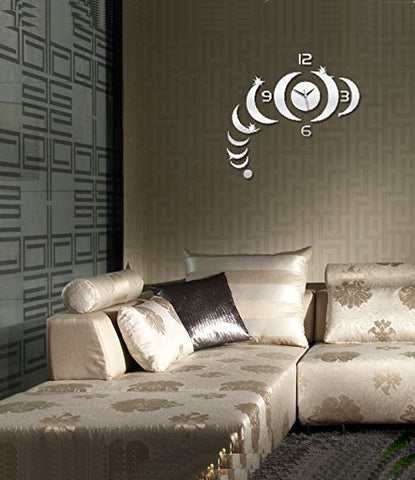 DIY Wall Clock 3D Sticker Home Office Decor 3D Wall Clock (Covering Area:49 * 51cm) - 0459S