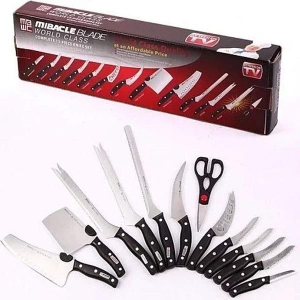 13 Piece Stainless Steel Knife Set Chef's Knife Kitchen Starter Knives Set Mibacle Blade Knife Set