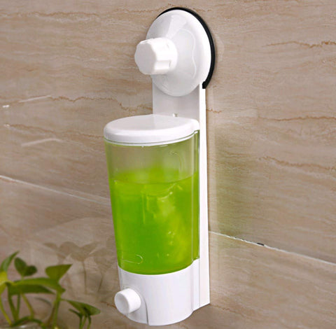 Wall Mounted Suction Cup Soap Liquid Hand Wash Sanitizer Dispenser for Home Office Restaurant - 1900SGSPD
