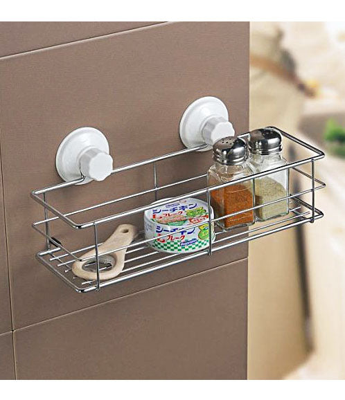 Cupula Portable Suction Storage Basket Kitchen For Bath & Kitchen - 1930CPSBT