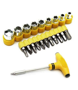 24 Pcs Screwdriver Socket ToolKit For Home, Office, Car, Bike – 24PCTK