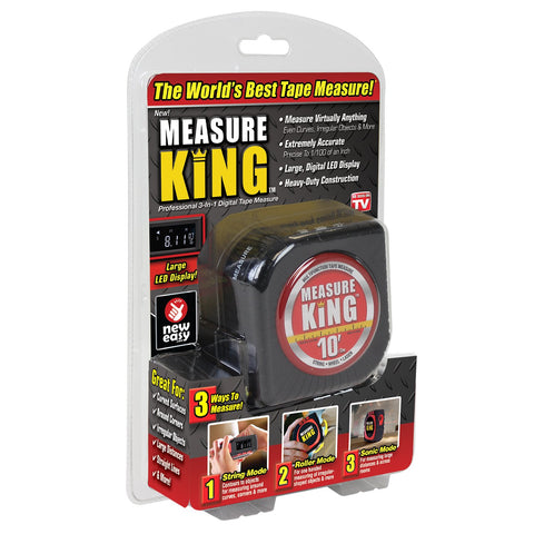 Measure King 3 in 1 Digital Tape Measure String Mode, Sonic Mode & Roller Mode & Cord Mode & Laser Measuring Tape and Measure Virtually Anihting Fast & Easy - 3IN1TAPE
