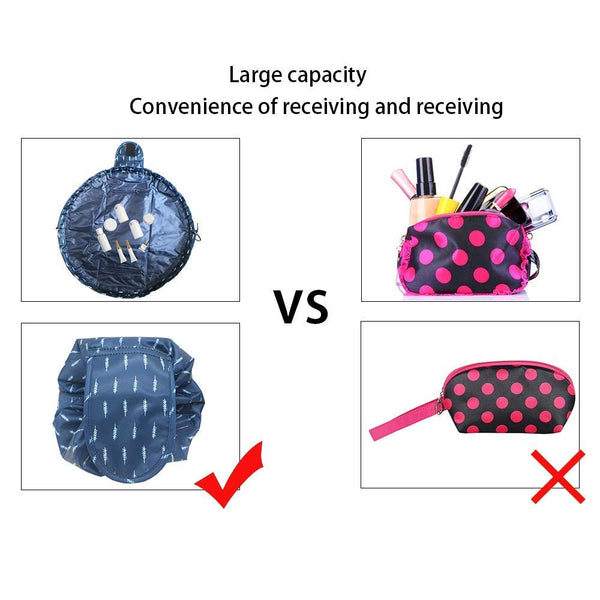 Shopper52 Portable Drawstring Makeup Bag Large Capacity Lazy Cosmetic Organizer Pouch Magic Travel Toiletry Bags For Womens Ladies Bag Travel Bag - TRPOTLIBAG-PK
