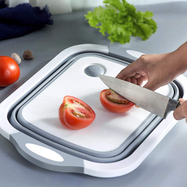 3 in 1 Cutting Chopping Board, Washing Bowl, Fruit Vegetable Basket, Dish, Tub, Drain Basket Vegetable Basin - 3in1CHOP