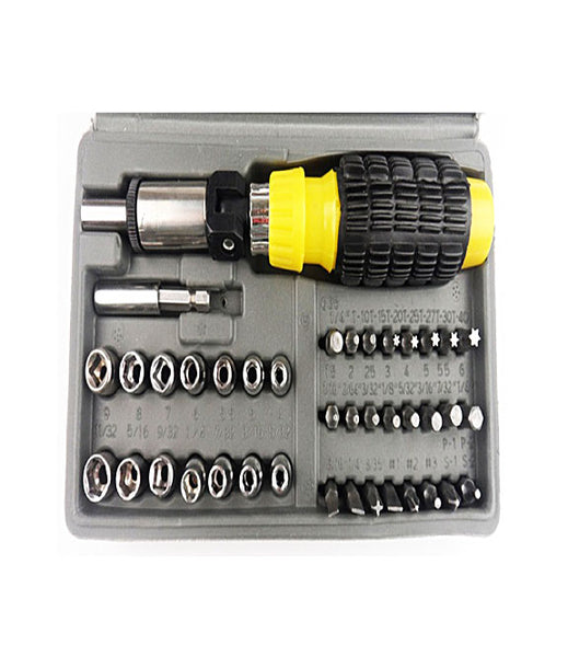 41 in 1 Pcs Tool Kit & Screwdriver and Socket Set Automobile Tool Box Set