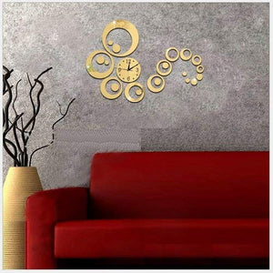 DIY Wall Clock 3D Sticker Home Office Decor 3D Wall Clock (Covering Area:45 * 56cm) - 0434G