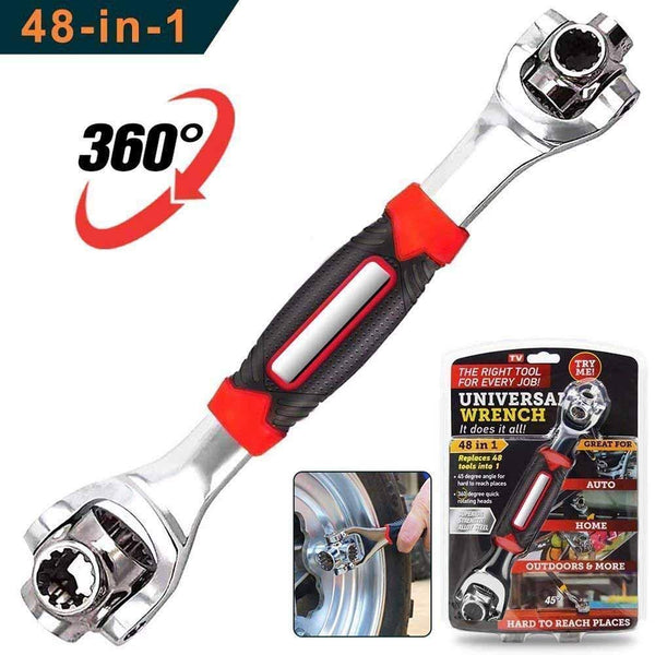 Universal Wrench 48 in 1 Socket Wrench Multifunction Wrench Tool with 360 Degree Rotating Head, Spanner Tool for Home and Car Repair - 48IN1TOOL
