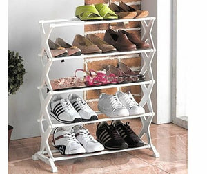 Stackable Shoe Rack Storage Shoe Stand Shoe Cabinet Shoe Organiser for Home & Office - 5SHRCK