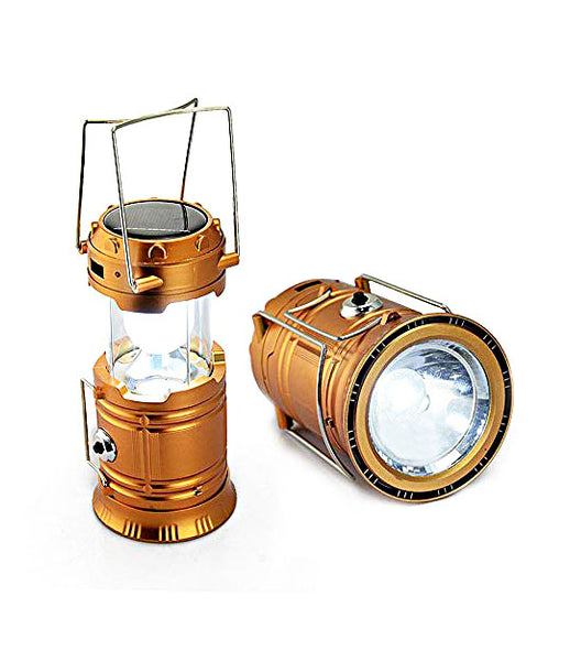 Solar Rechargeable 6LED Camping Lantern Light Solar Lamp Torch G-85 - 6LEDG85