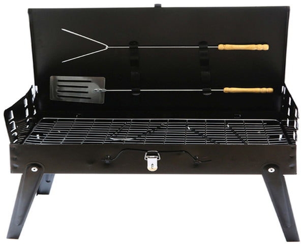 Shopper52 Portable Charcoal Barbeque Grill Briefcase Style Folding Barbecue Grill Toaster Barbeque - BBQ