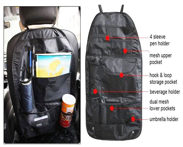 Car Seat Storage Bag Car Covers Back Seat Organizer Auto Multi Holder Pocket Organizer Bag Assorted Bag Pocket - CBKORG2