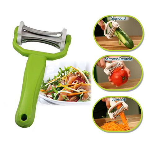 Click Peeler 3 in 1 Peels, Shaves & Slices - CPEEL3N1