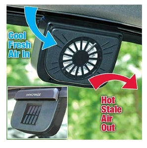 Auto Cool- Solar Powered Ventilation Fan Keeps Your Parked Car Cool -Black - CRCLR