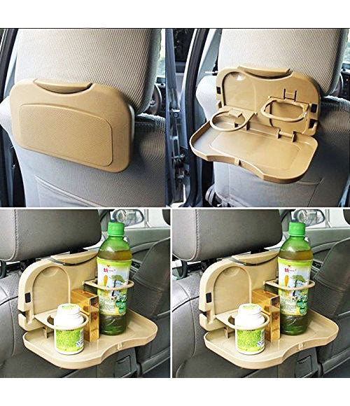Automobile Travel Car Meal Plate Drink Dining Cup Holder Tray - CRT1501