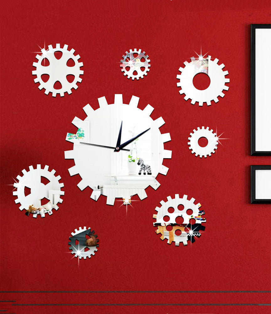 DIY Wall Clock 3D Sticker Home Office Decor 3D Wall Clock (Covering Area:65*65cm) - DIY609S