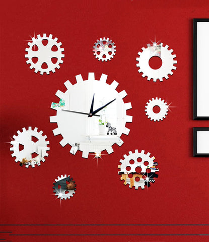 DIY Wall Clock 3D Sticker Home Office Decor 3D Wall Clock (Covering Area:65*65cm) - DIY609S-N1