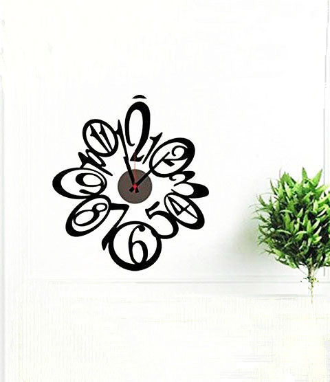 DIY Wall Clock 3D Sticker Home Office Decor 3D Wall Clock (Covering Area:50*45cm) - DIYCD808
