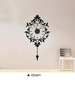 DIY Wall Clock 3D Sticker Home Office Decor 3D Wall Clock (Covering Area:90*50cm) - DIYCD811