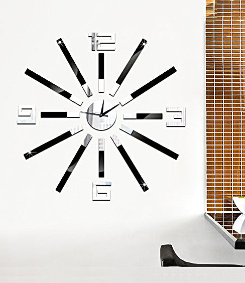 DIY Wall Clock 3D Sticker Home Office Decor 3D Wall Clock (Covering Area:55*55cm) - DIYCD814