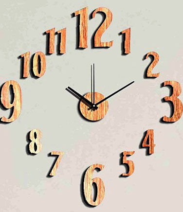DIY Wall Clock 3D Sticker Home Office Decor 3D Wall Clock (Covering Area:60*60cm) - DIYEW110