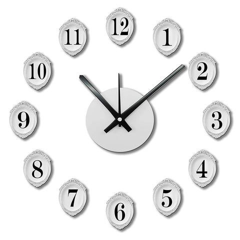 DIY Wall Clock 3D Sticker Home Office Decor Wall Clock ( Covering Area: 35 x 35 cm ) - DIYM05GIG