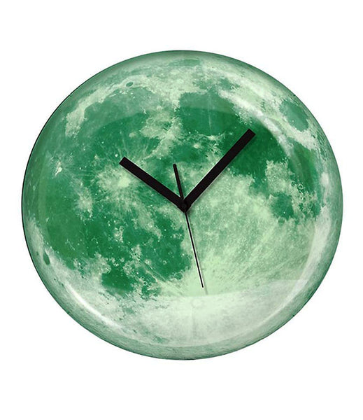 DIY Glow in The Dark Moon 3D Wall Clock Home Office Decor 3D Wall Clock (Covering Area:30 * 30cm) - DIYMYG001