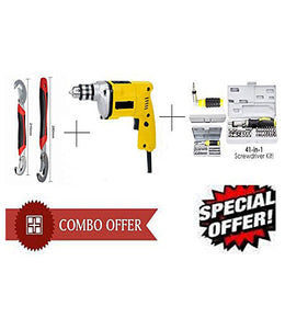 Buy Powerful Drill Machine + 41 Pcs Tool Kit Screwdriver + Snap N Grip Wrench - DRL41SNP